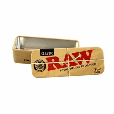 Cannabox Raw Rolling Paper Tin