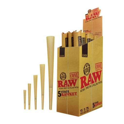 Cannabox Raw Cone Rawket Rolling Papers