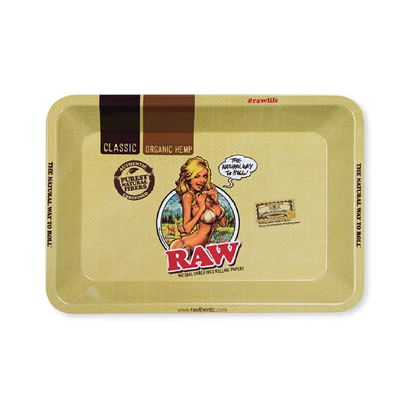 Raw Girl Rolling Tray