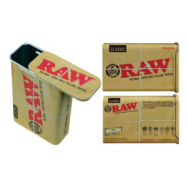 Raw Metal Tin With Slide Top