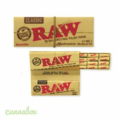 Cannabox Raw Rolling Paper with Tips