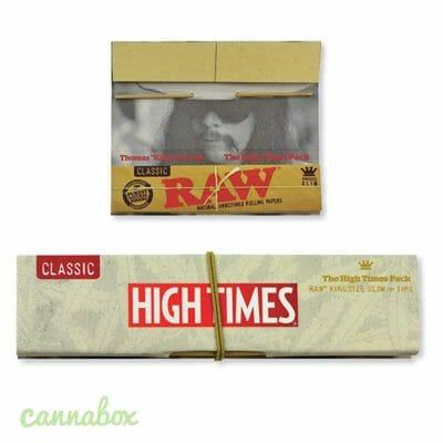 Cannabox Raw High Times Rolling Papers with tips