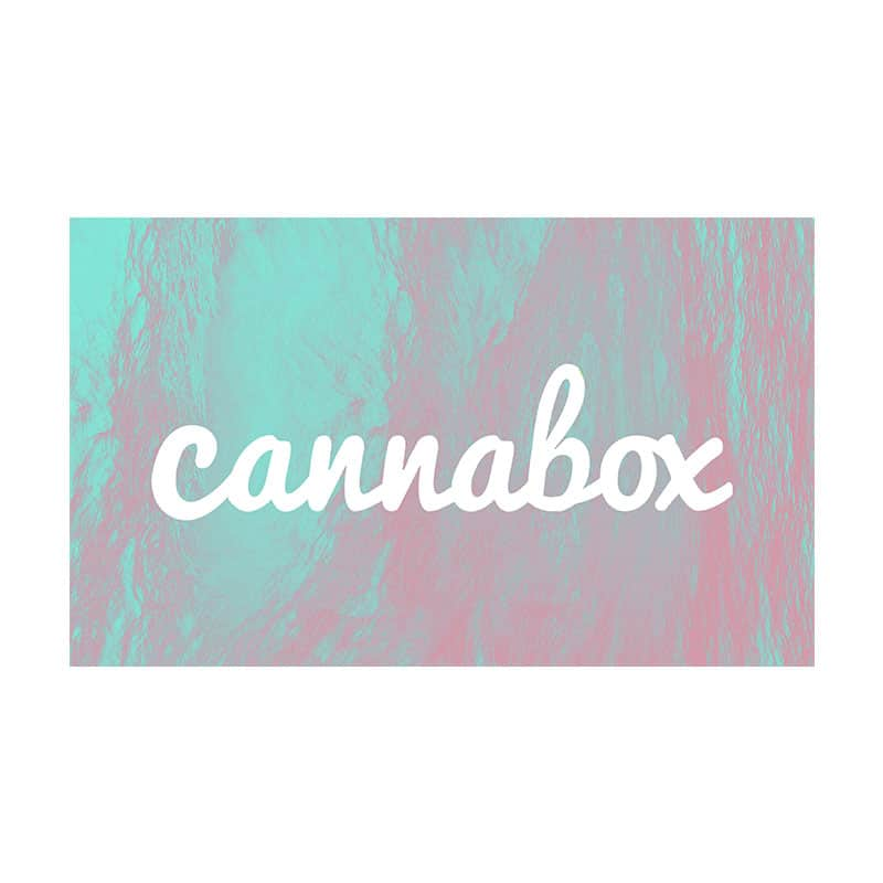 Cannabox July 2019 Logo Sticker