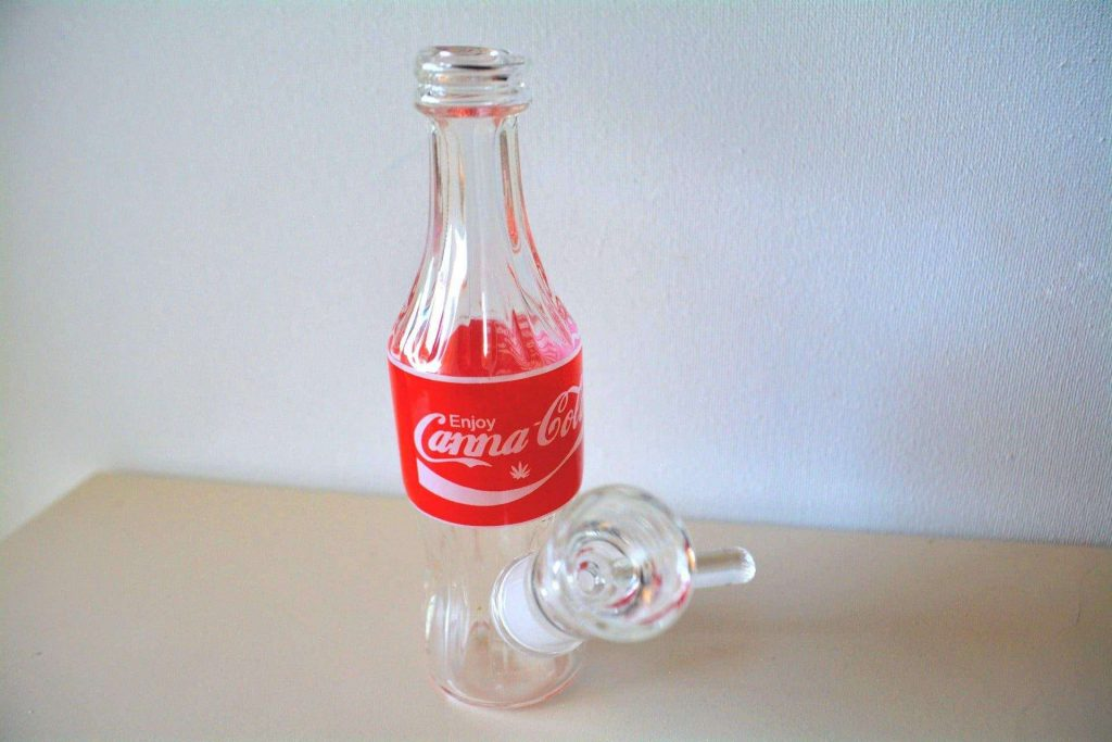Enjoy Canna-Cola Mini Bubbler  – Cannabox Glass (pictured)