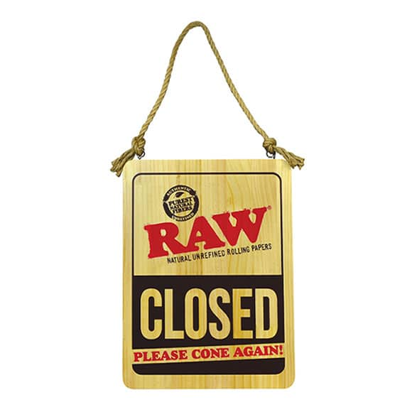 Raw Door Sign Closed