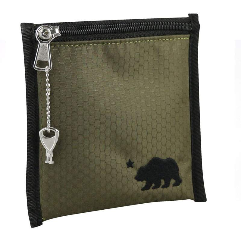 Cali Crusher Smell Proof Pouch Military Green