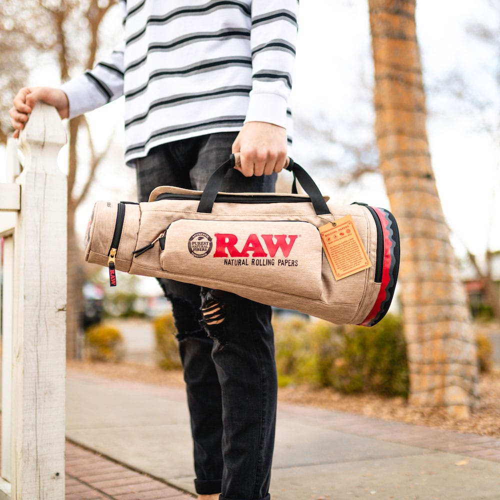 RAW Smell Proof Cone Duffle Bag Lifestyle