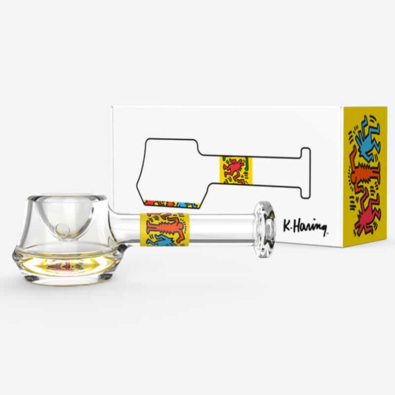 Keith Haring Spoon Pipe Yellow Box