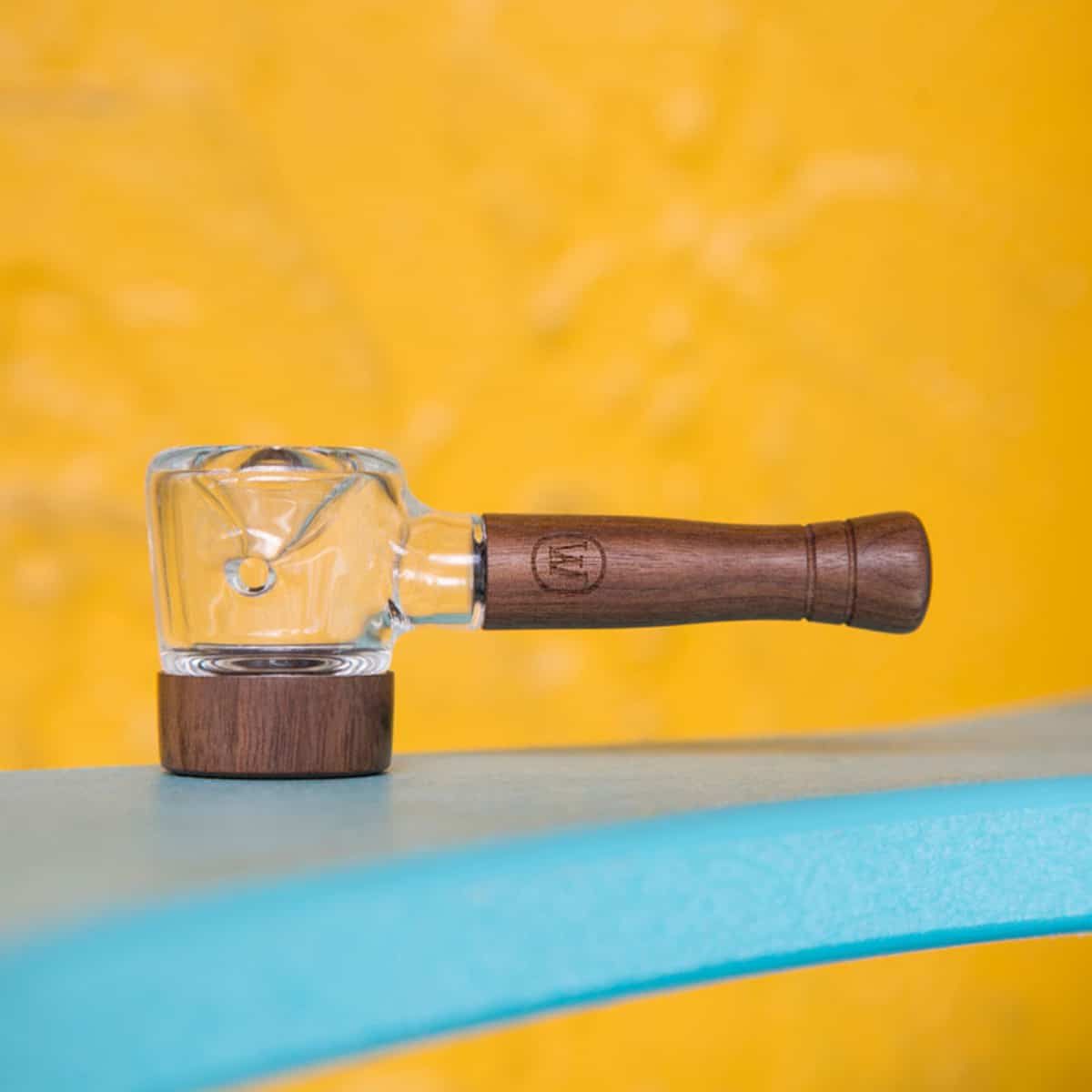 Marley Natural Wood and Glass Spoon Pipe