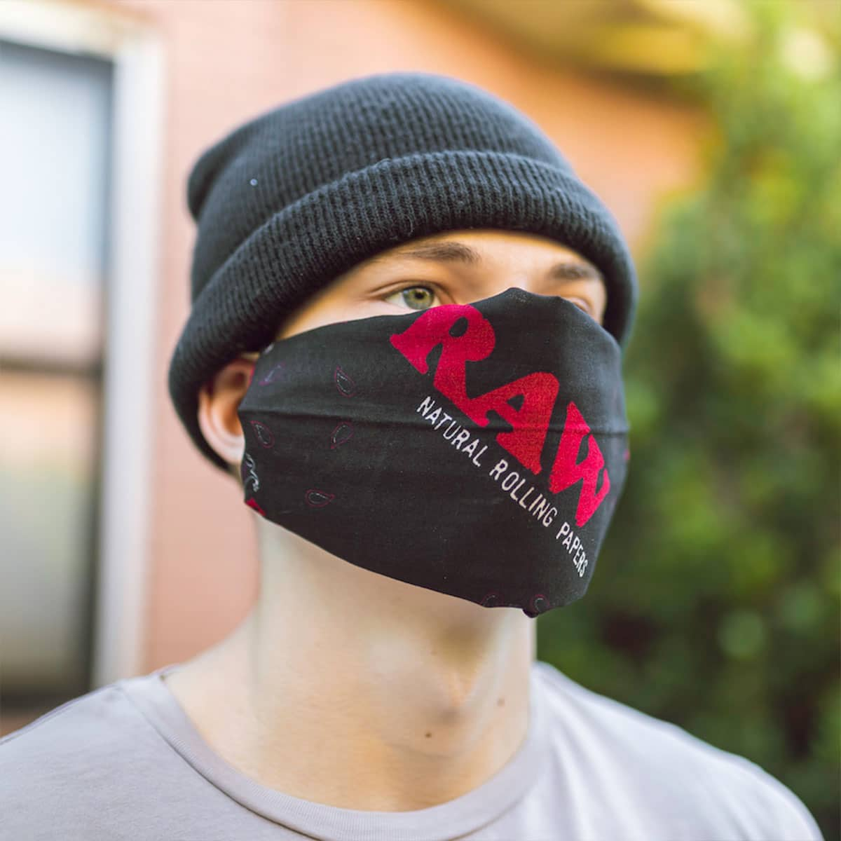 Raw Bandana Face Mask