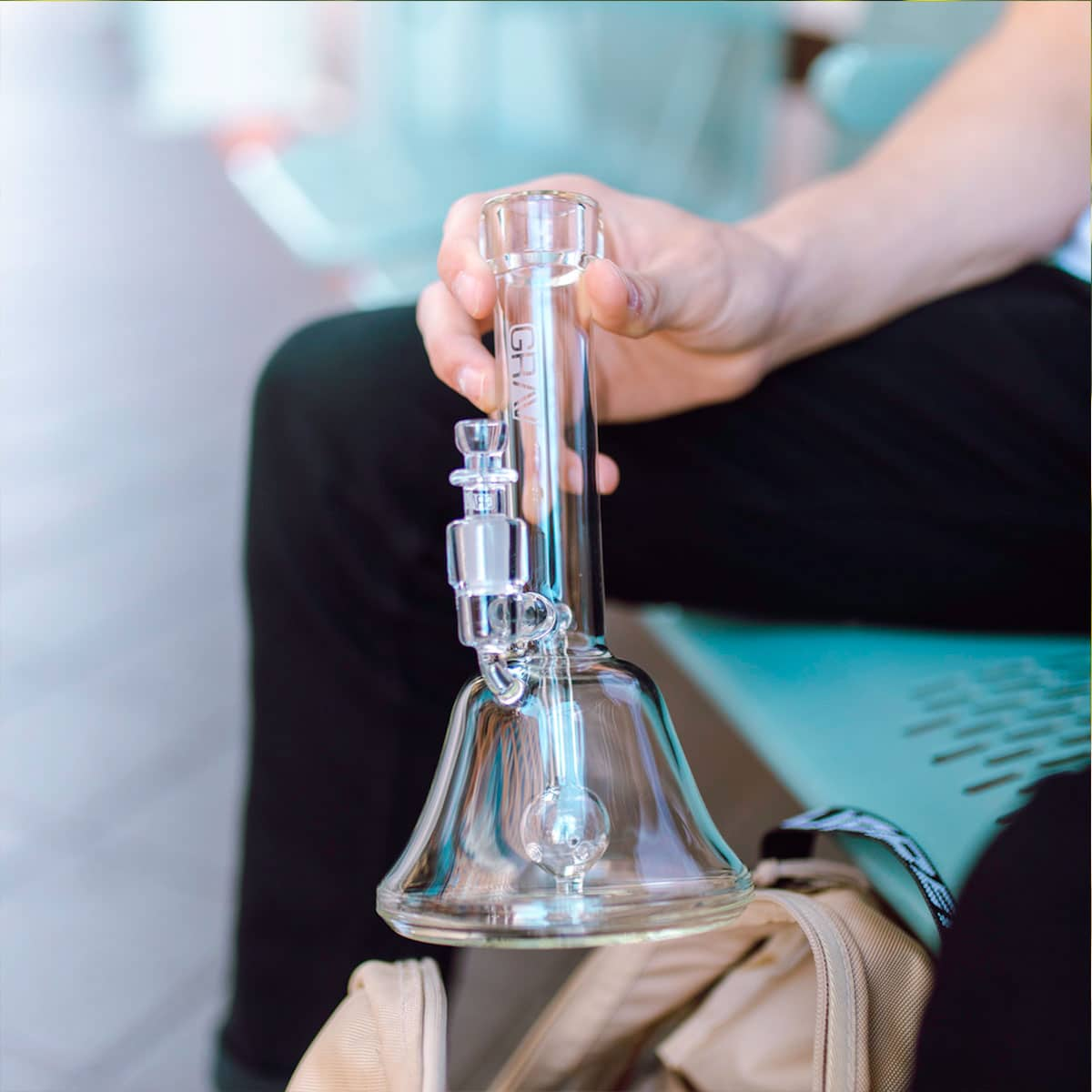 GRAV Labs Bell Base Bong Sitting Down