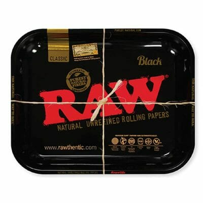 RAW Black Rolling Tray Large