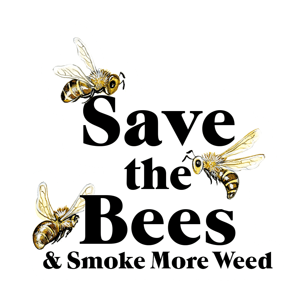Cannabox May 2020 Save the Bees Sticker