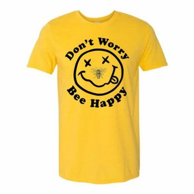Cannabox Don't Worry Bee Happy Shirt May 2020
