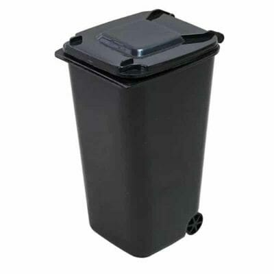Cannabox Desktop Cotton Swab Recycling Bin Black