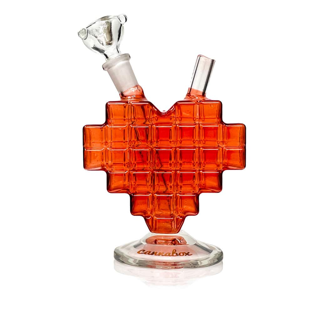 Cannabox Pixel Heart Mini Bong