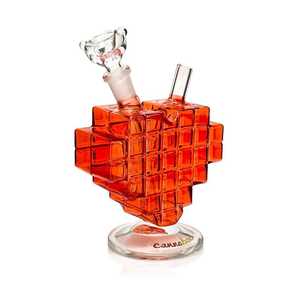 Cannabox Pixel Heart Mini Bong Side