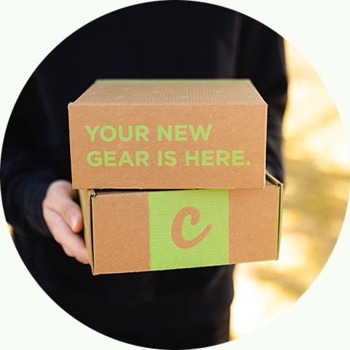 person holding cannabox subscription box